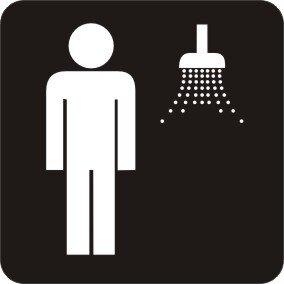 Herren Dusche Sanitär Aufkleber