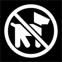 Hunde verboten Aufkleber