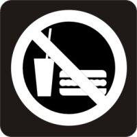 Essen, Getränke verboten Aufkleber