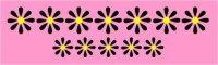 Aufkleber Blumen Roller Vespa Schwalbe, Blumenaufkleber