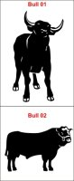 Bulle Stier Aufkleber Bull Aufkleber