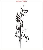 M002 Aufkleber Flora Blumenaufkleber