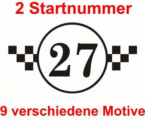 Startnummer Aufkleber Rennnummer Auto Rally Styling