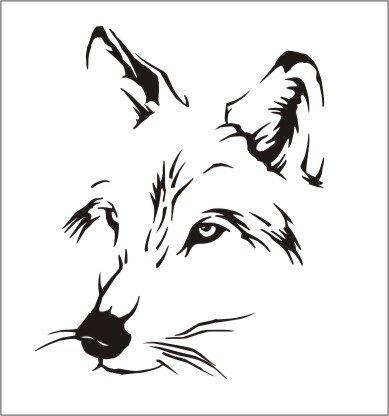 Wolf Kopf Aufkleber Wolfskopf Aufkleber