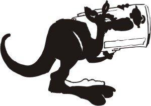 Känguru Aufkleber, Känguruaufkleber