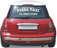 2 x Pizza Taxi Aufkleber für Heckscheibe