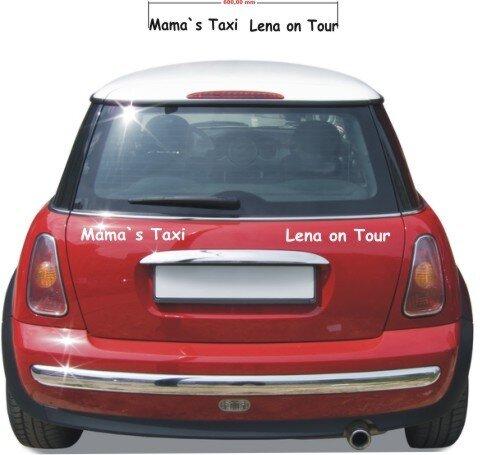 Babyaufkleber, Baby Aufkleber Mama`s Taxi