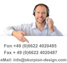 Kontaktmöglichkeiten Skorpion-Design