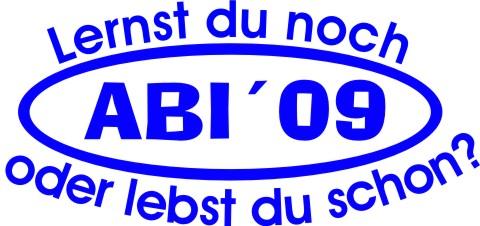 abi aufkleber Abi 09