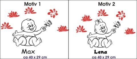 Baby Aufkleber zweifarbig babyaufkleber