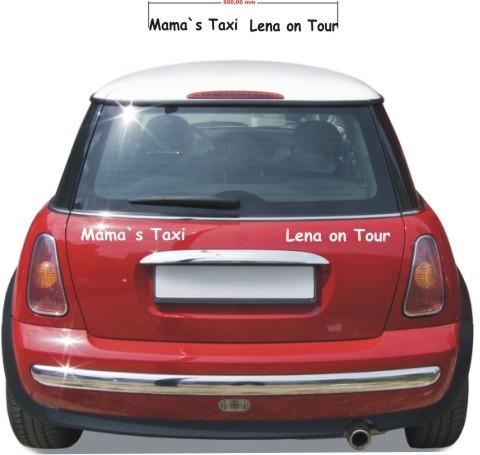 Baby Aufkleber Mama s Taxi babyaufkleber