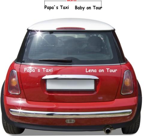 Baby Aufkleber Papa s Taxi babyaufkleber