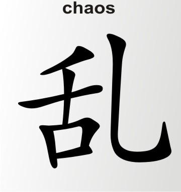china zeichen chaos