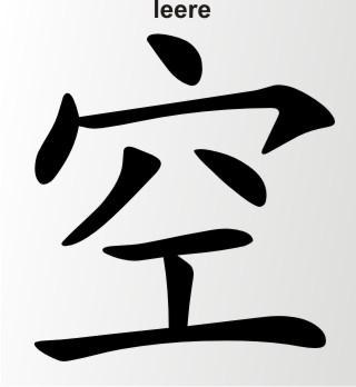 china zeichen leere