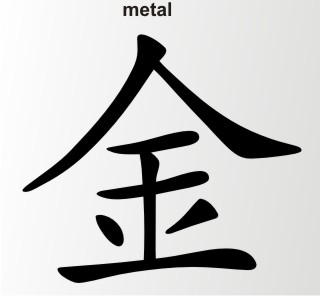 china zeichen metal