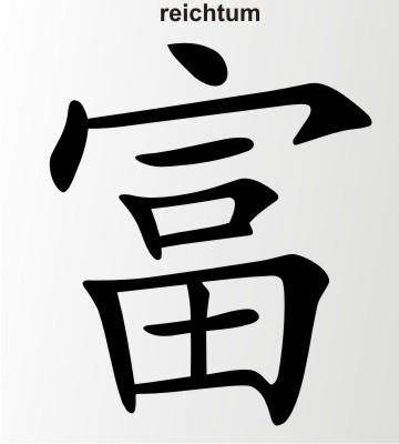 reichtum china zeichen