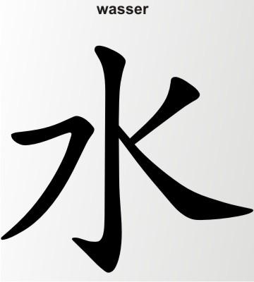 wasser china zeichen