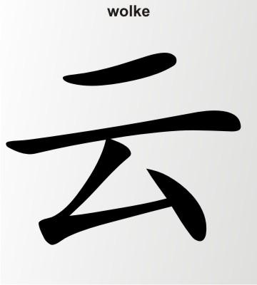wolke china zeichen