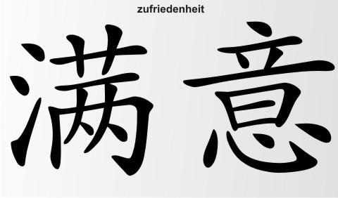 zufriedenheit china zeichen