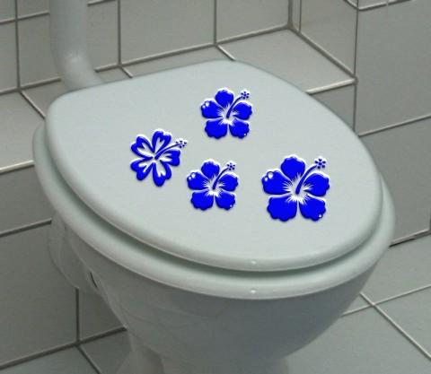 hibiskus aufkleber  fuer toilettendeckel
