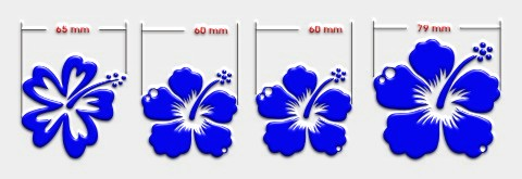 hibiskus fuer toilettendeckel blumenaufkleber