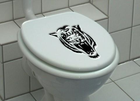 Aufkleber Tiger Toilettendeckel  Dekorfolie