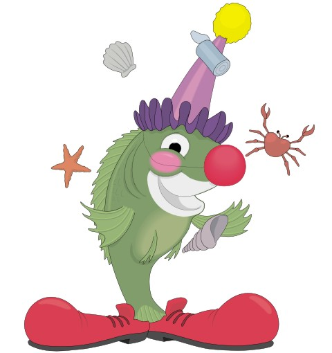 clownfisch aufkleber