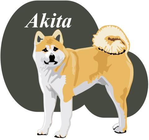 akita aufkleber