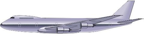 airliner flugzeug aufkleber