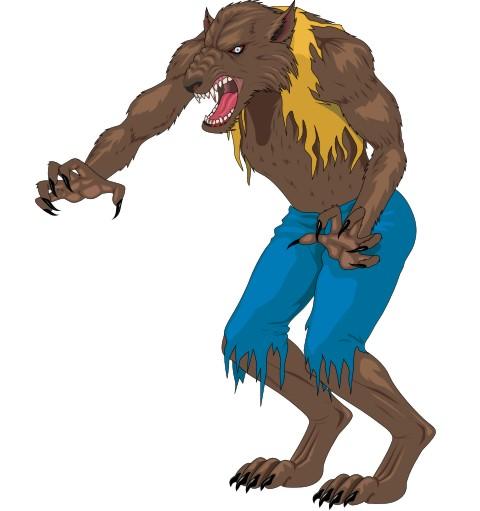 werwolf aufkleber