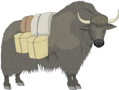 yak aufkleber