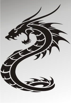 drachen drache aufkleber
