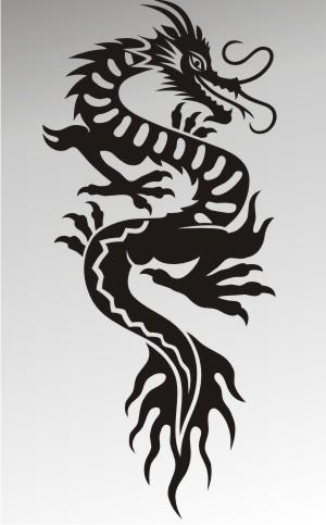 drachen aufkleber