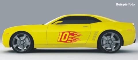 Flames Seitenaufkleber Flammen Auto