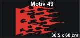 Flammenaufkleber Car & Bike Flames Seitenaufkleber Flammen