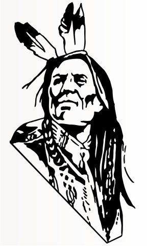 indianer krieger indian sticker