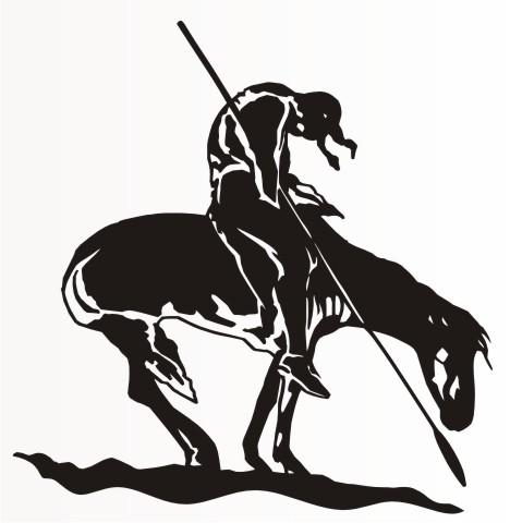 indianer auf pferd indian aufkleber