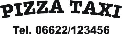 pizza taxi aufkleber kfz beschriftung