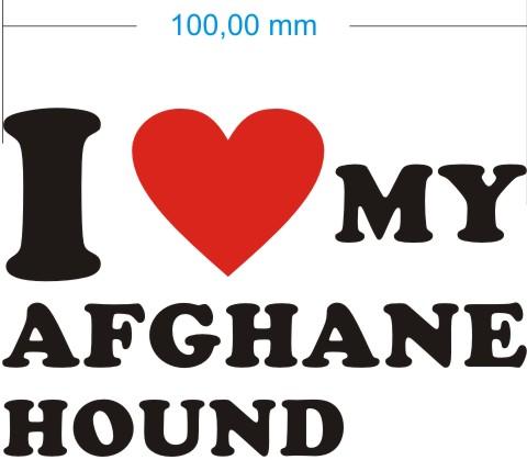 afghane hound aufkleber