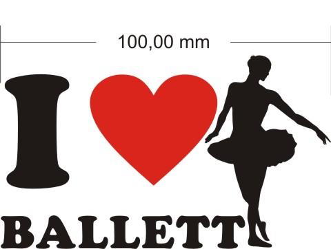 ballett aufkleber