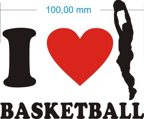 ich liebe basketball aufkleber