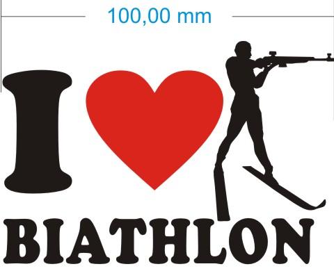 ich liebe biathlon aufkleber