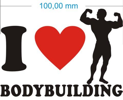 ich liebe bodybuilding aufkleber