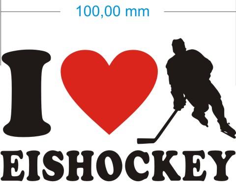 ich liebe eishockey aufkleber