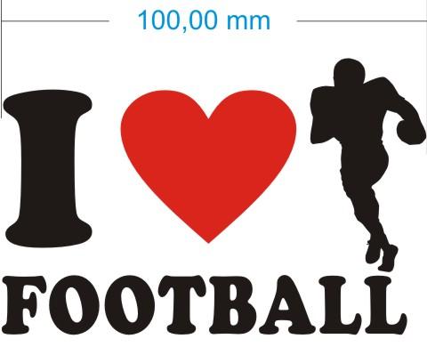 ich liebe football aufkleber
