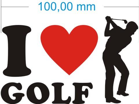 ich liebe golf aufkleber