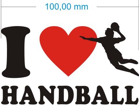ich liebe handball aufkleber