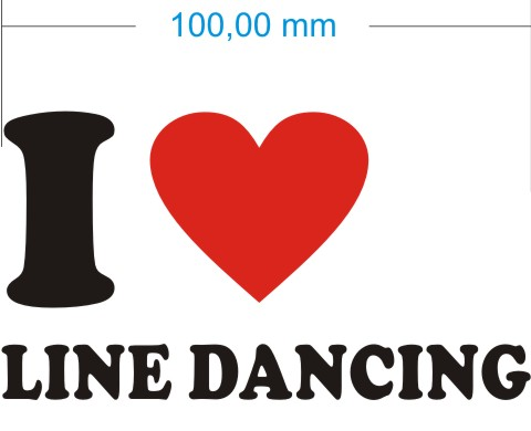 ich liebe line dancing aufkleber