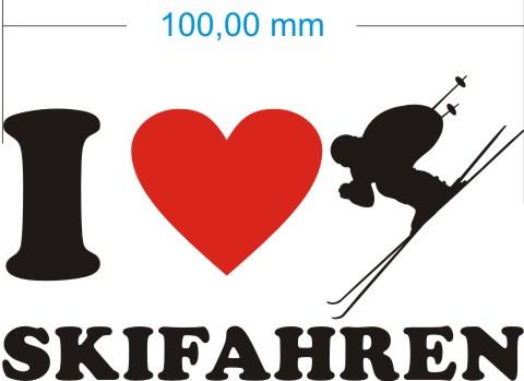 skifahren aufkleber