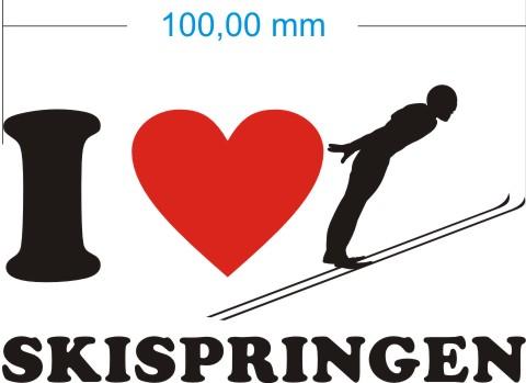 skispringen aufkleber